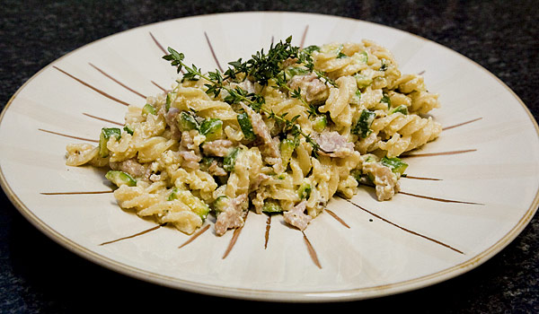 Recipe with cottage cheese and pasta