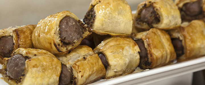 Beef and Mustard Sausage Rolls